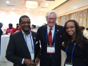 Art and Jessica Rocker standing with Bob Dotson of NBC