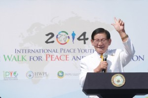 Man Hee Lee, Chairman of HWPL September 16-20, 2014 in Seoul, Korea